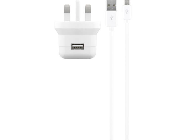 Cabstone 43772 USB-oplader Thuislader Uitgangsstroom (max.) 2100 mA 1 x USB, Micro-USB Met UK-stekke