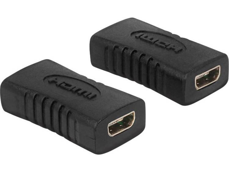 Delock HDMI Adapter [1x HDMI-bus D micro <=> 1x HDMI-bus D micro] Zwart