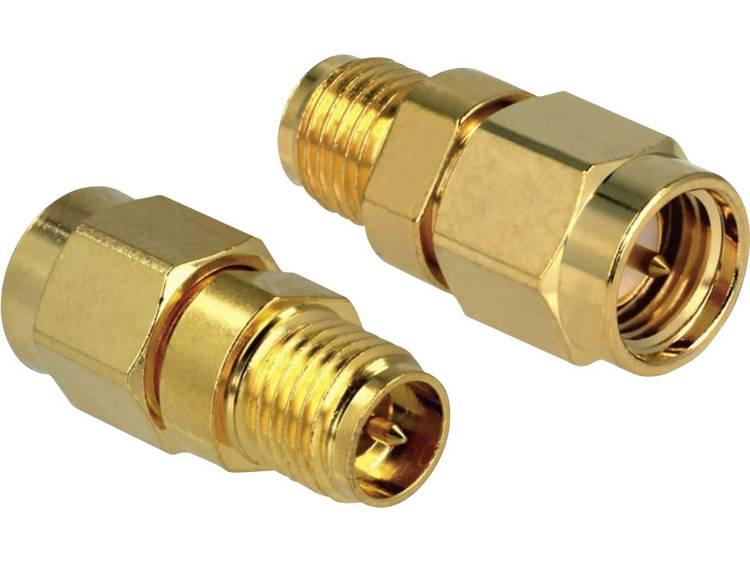 Delock WiFi-antenne Adapter [1x RP-SMA-bus - 1x SMA-stekker] 0 m Goud