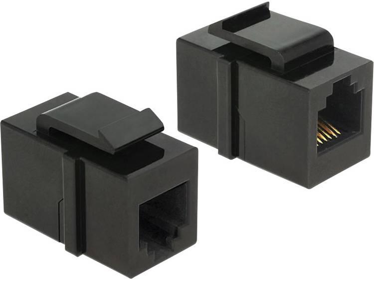 Delock Keystone-module RJ12-bus > RJ12-bus cat.3 zwart