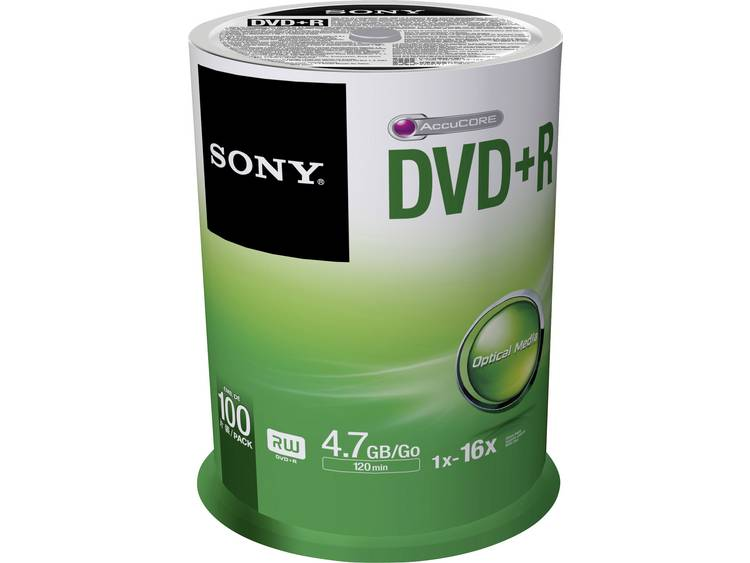 DVD+R disc 4.7 GB Sony 100DPR47SP 100 stuks Spindel