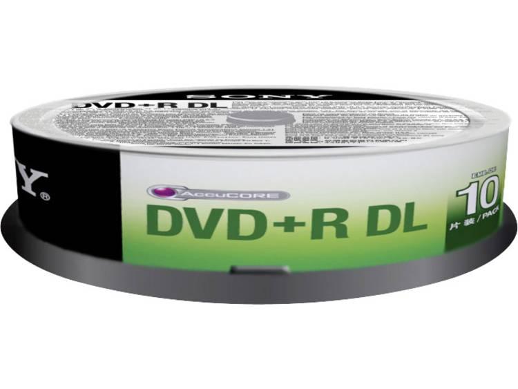 DVD+R DL disc 8.5 GB Sony 10DPR85SP 10 stuks Spindel
