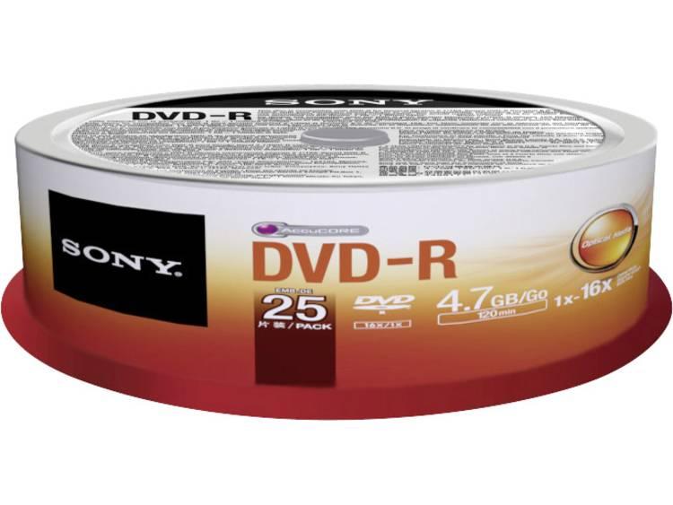 DVD-R disc 4.7 GB Sony 25DMR47SP 25 stuks Spindel