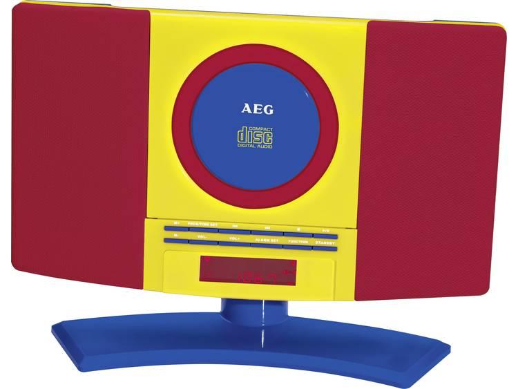AEG MC 4464 Kids Line, stereo-installatie voor kinderen (CD, FM-radio, Aux-in, wekker, wandmontage),