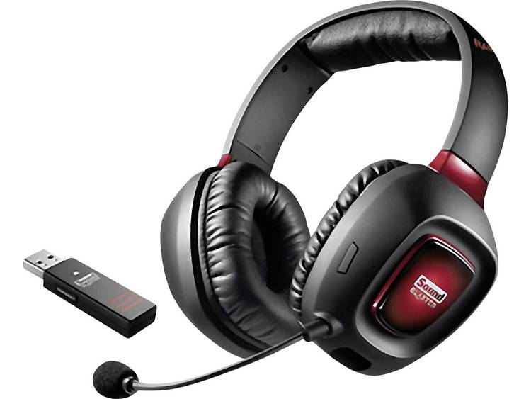 Gaming headset USB Draadloos Sound Blaster Tactic3D Rage Wireless V2.0 Over Ear Zwart