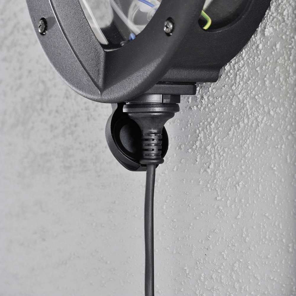 Wandlamp Oden met stopcontact Helder glas