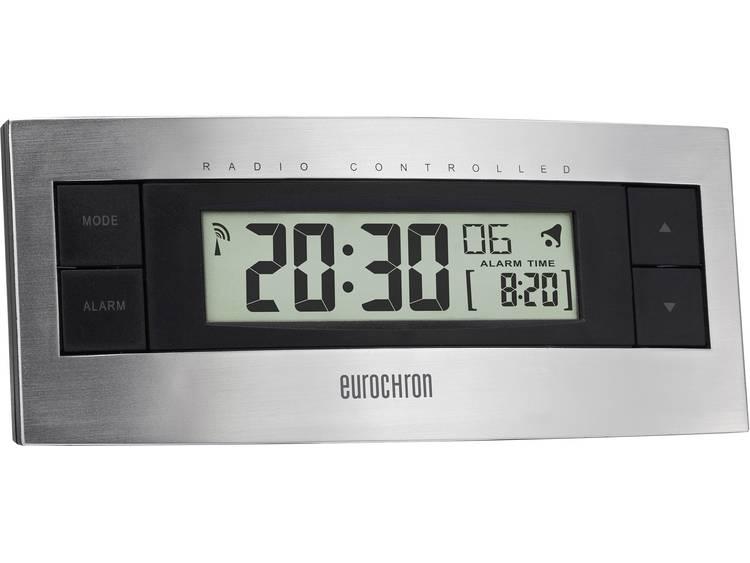 Wekker Zendergestuurd Zilver, Zwart Alarmtijden: 1 Zendergestuurd (DCF77), Alarm, Weekdag, Jaargetij