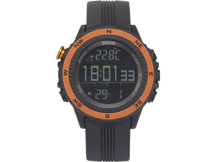 Eurochron EQAS 400 Horloge (Ø x h) 51 mm x 14.5 mm Antraciet Materiaal (behuizing)=Kunststof