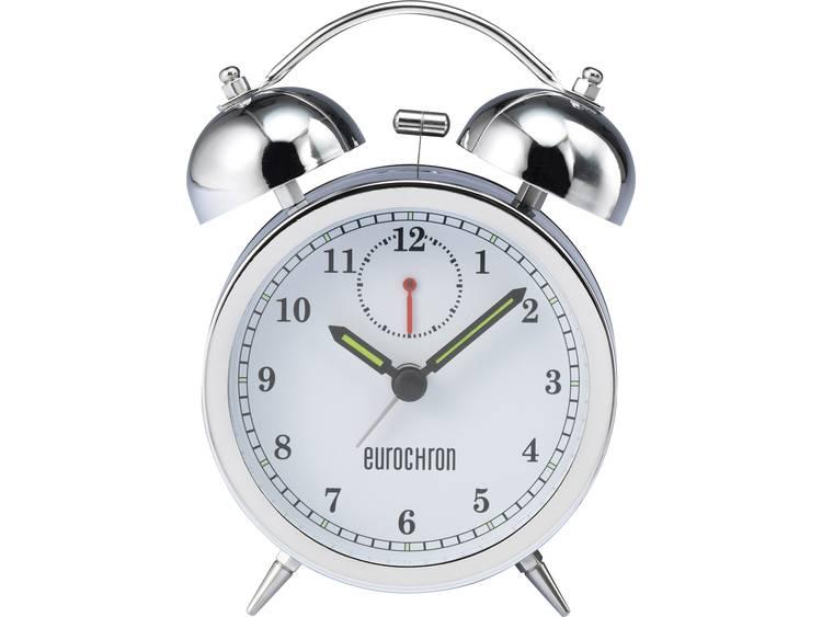 Wekker Quarz Zilver Alarmtijden: 1 Eurochron EQWG 53