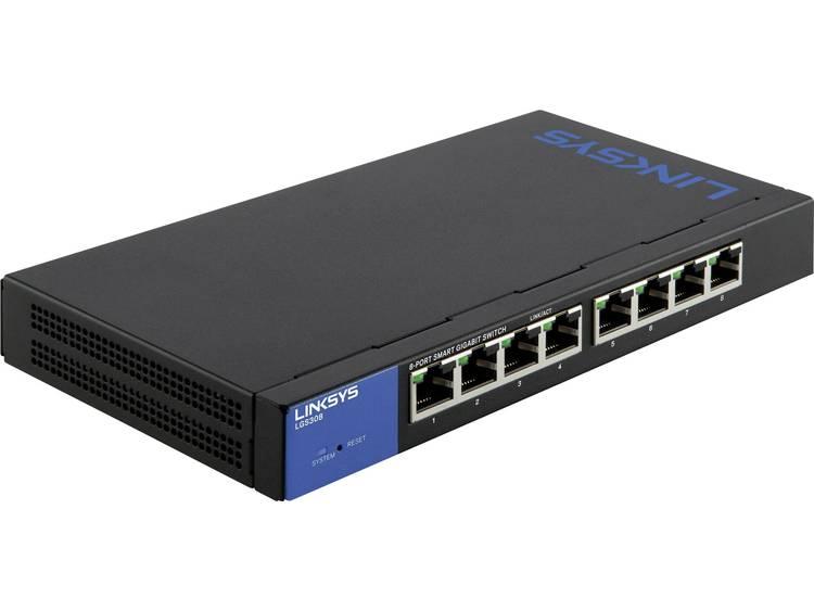 Linksys LGS308-EU Netwerk switch RJ45 8 poorten 1 Gbit/s