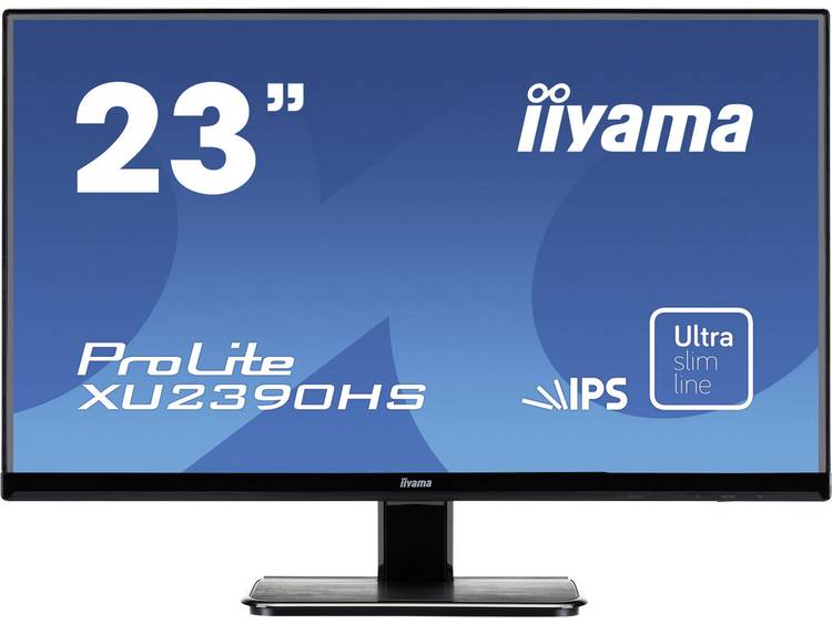 Iiyama XU2390HS-B1 LED-monitor 58.4 cm (23 inch) Energielabel A (A+ – F) 1920 x 1080 pix Full HD 5 ms HDMI, DVI, VGA IPS LED