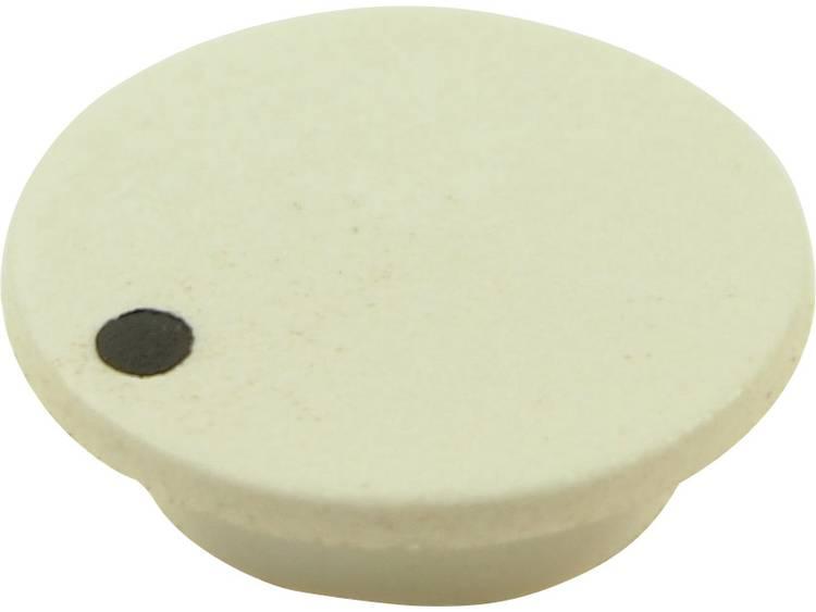 Afdekkap Met punt Wit Geschikt voor Draaiknoppen K21 Cliff CL1746 1 stuks