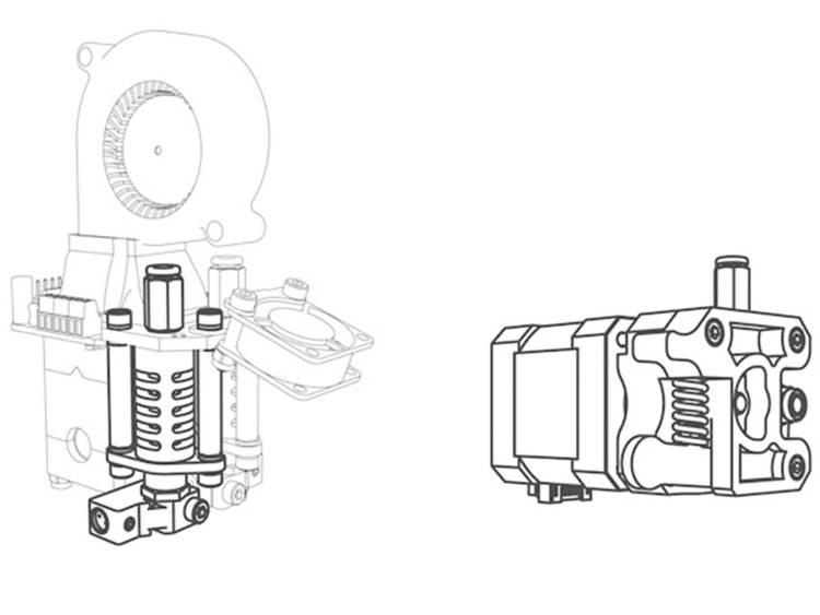 Velleman-printkop K8402 voor Vertex 3D-printer Geschikt voor: Velleman Vertex