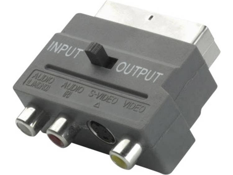 Vivanco SCART Adapter [1x SCART-stekker <=> 3x Cinch-stekker, DIN-stekker] Zwart