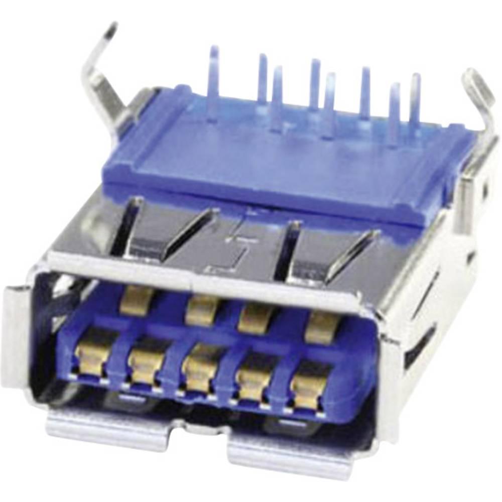 Anslutning för inbyggnad konstruktion A USB 3.0 Hona inbyggd horinsontell U3BU1AN 1 port U3BU1AN econ connect Innehåll: 1 st