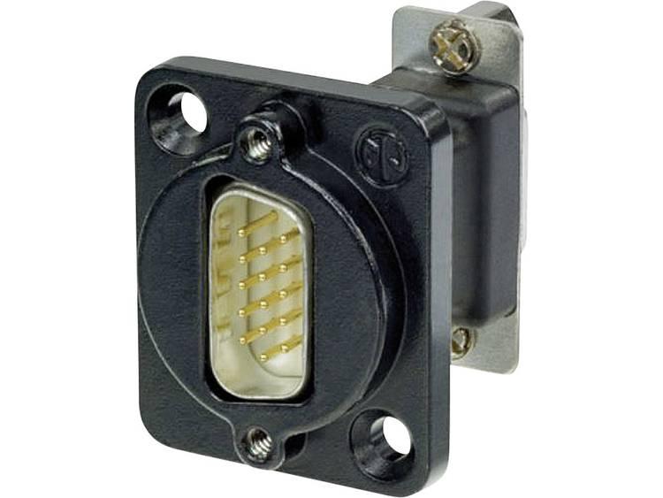 Neutrik NADB15MF-B D-SUB adapter D-sub stekker 15-polig D-sub bus 15-polig 1 stuks