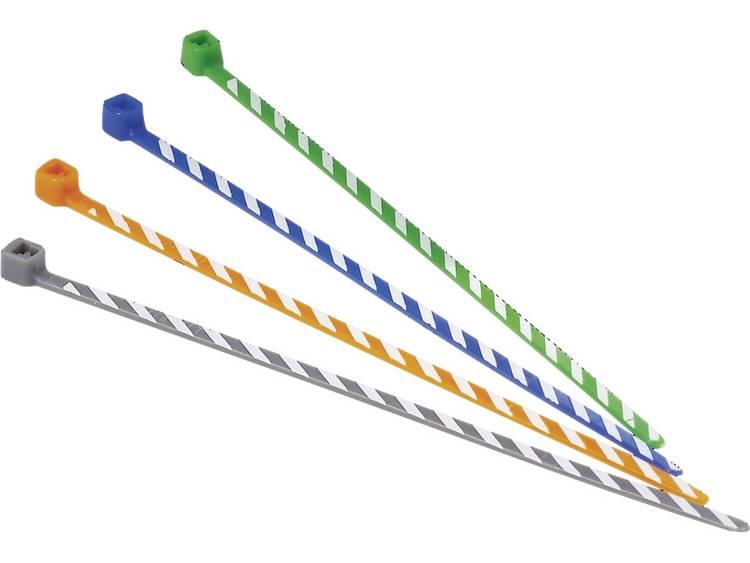 Panduit PLT1M-L6-10 PLT1M-L6-10 Kabelbinder 102 mm Blauw, Wit Met kleurkenmerk 50 stuks