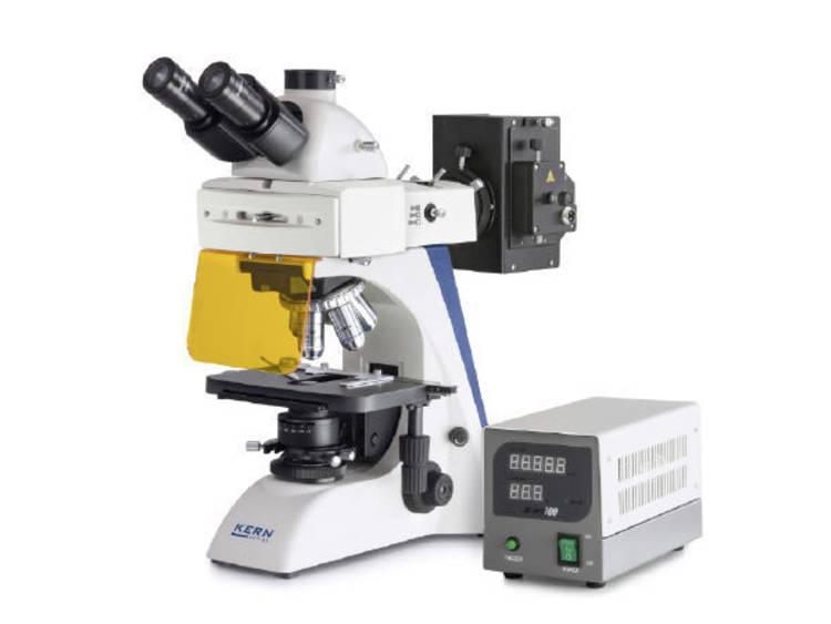 Kern Optics OBN 147 Doorlichtmicroscoop Trinoculair 1000 x Doorgelaten licht, Lichtinval