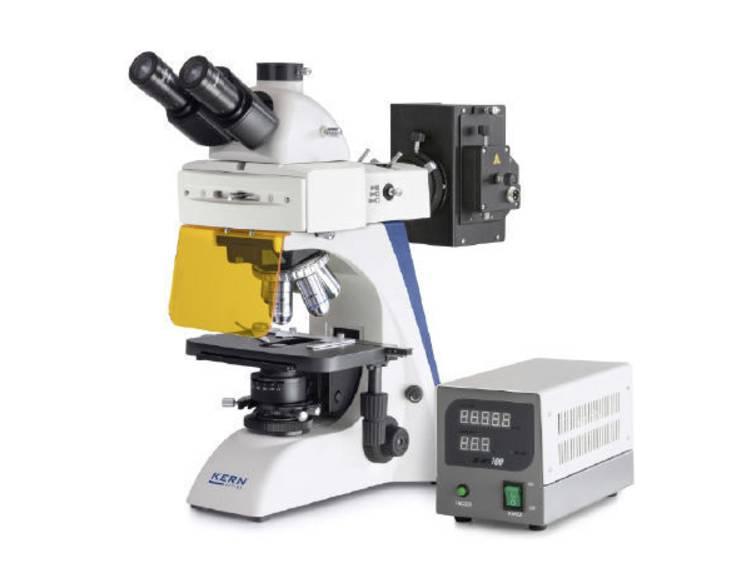 Kern Optics OBN 148 Doorlichtmicroscoop Trinoculair 1000 x Doorgelaten licht, Lichtinval