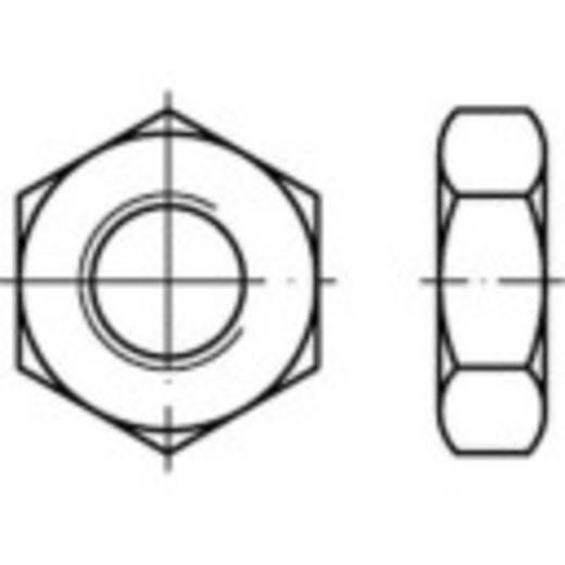 Zeskantmoeren M10 DIN 936 Staal galvanisch verzinkt 100 stuks TOOLCRAFT 132350