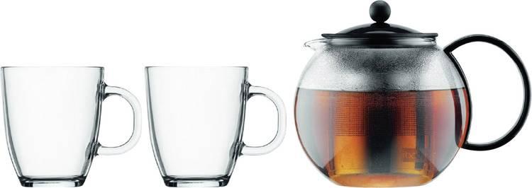 Image of bodum Assam Set K1805-01 Bodum Tea pers met rvs filter 1 liter + 2 Mok