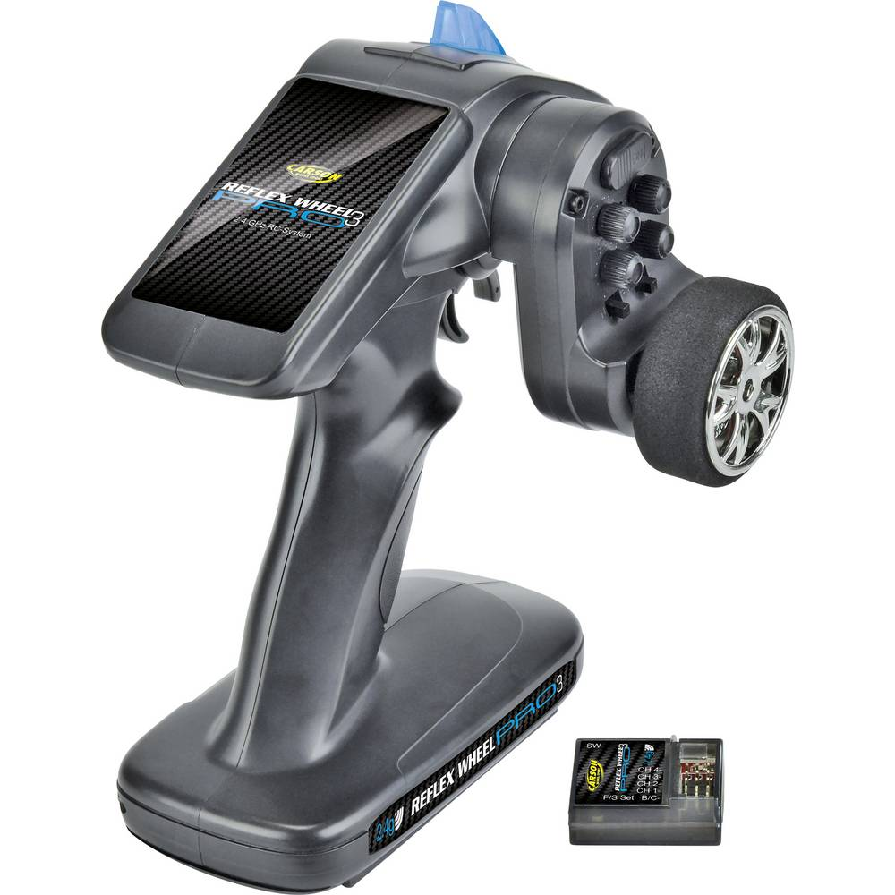 Sändare med pistolgrep Carson Modellsport Reflex Wheel Pro III 2.4 GHz 11,1V 2,4 GHz Antal kanaler: 2 inkl. mottagare