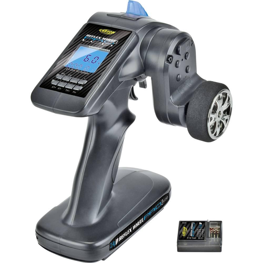 Sändare med pistolgrep Carson Modellsport Reflex Wheel Pro III LCD 2.4 GHz 2,4 GHz Antal kanaler: 3 inkl. mottagare