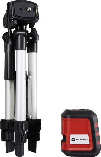 TOOLCRAFT CL8 Kruislijnlaser Incl. statief, Zelfnivellerend Reikwijdte (max.): 8 m Kalibratie conform: Fabrieksstandaar