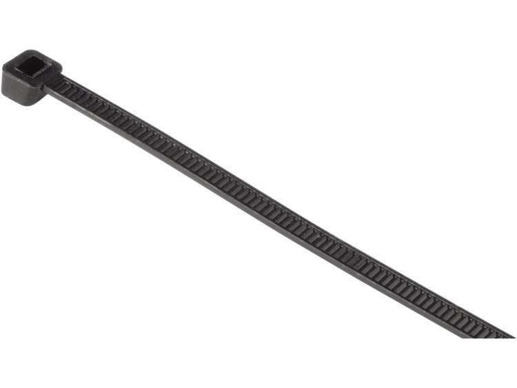 Hama Kabelbinder Kunststof Zwart flexibel l x b 14 cm x 0.35 cm 50 stuks 00020