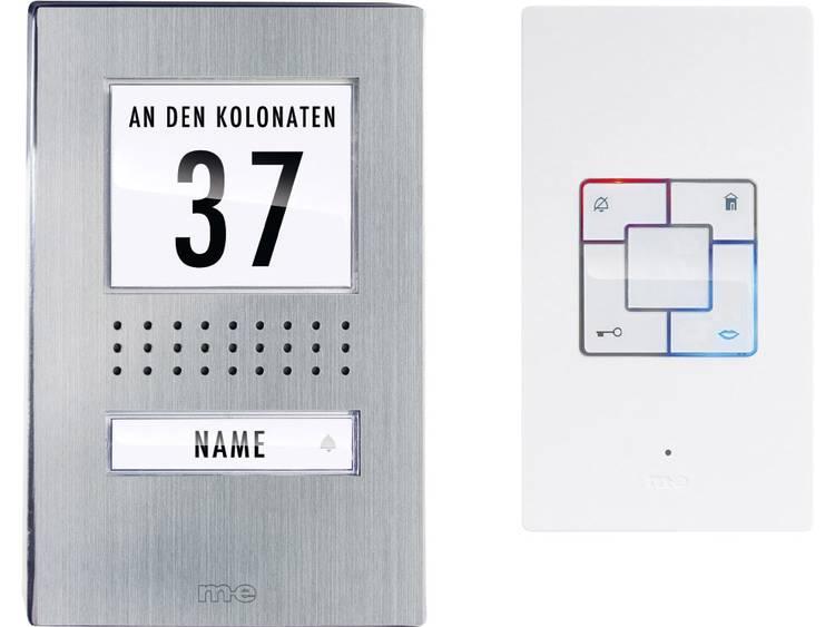 m-e modern-electronics ADB-1140 Complete set voor Deurintercom Kabelgebonden 1 gezinswoning RVS, Wit