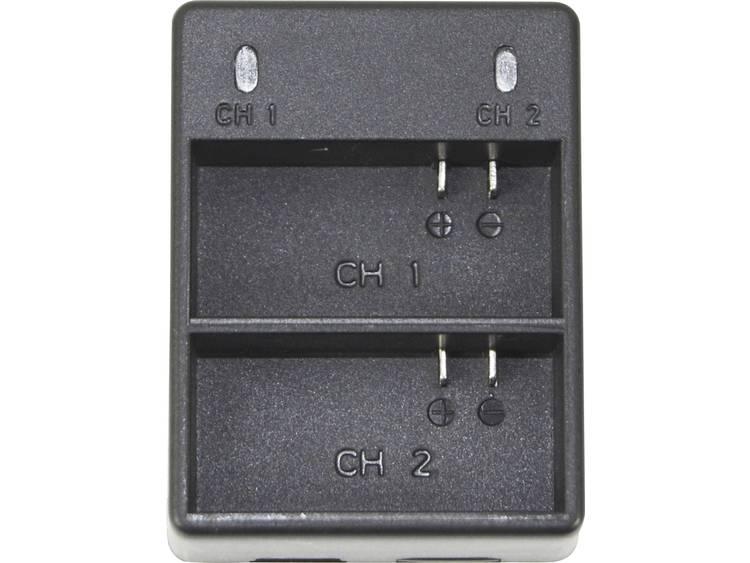 Dubbele oplader voor GoPro 4 batterijen voor GoPro Hero 4 Black-Silver batterijen DCGP4