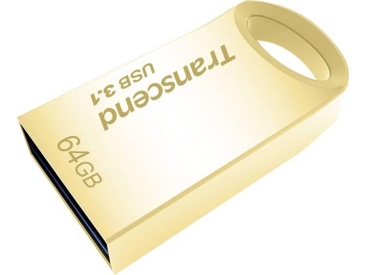 Transcend JetFlash® 710G USB-stick 64 GB Goud TS64GJF710G USB 3.1