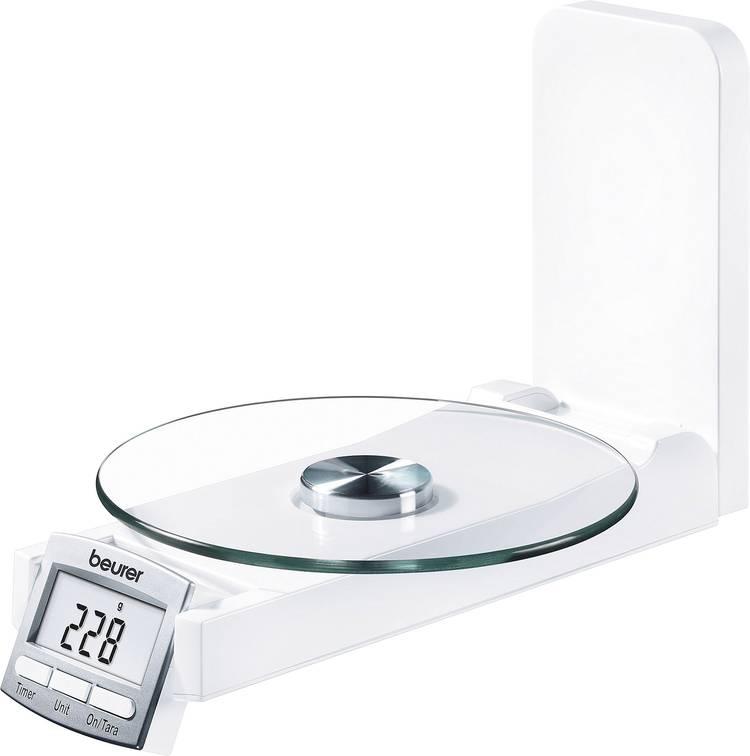 Beurer KS 52 Keukenweegschaal Digitaal. Met wandbevestiging Weegbereik (max.): 5 kg Wit