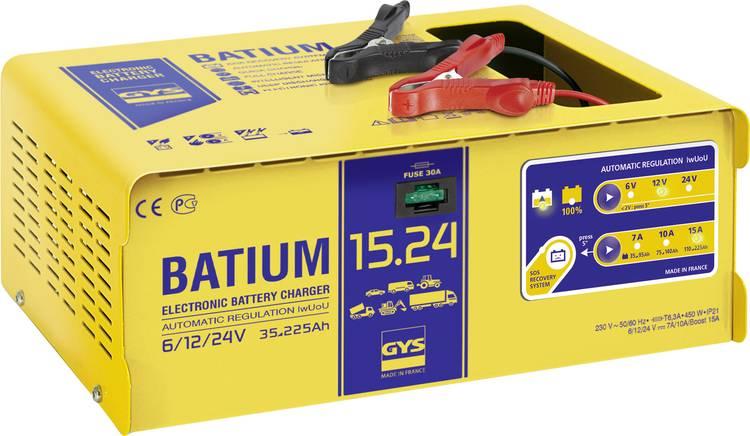 Druppellader GYS BATIUM 15.24 6 V. 12 V. 24 V 22 A 22 A