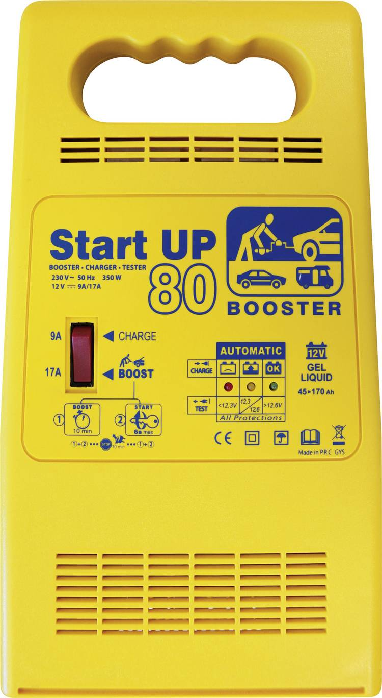 Druppellader. Accutester. Snelstartsysteem GYS START UP 80 12 V 25 A