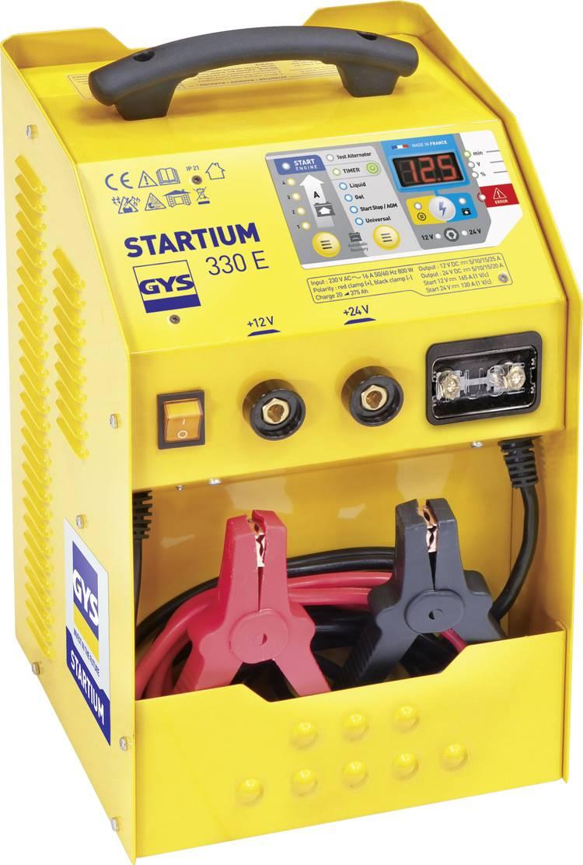 Druppellader. Snelstartsysteem GYS STARTIUM 330E 12 V. 24 V 5 A. 10 A. 15 A. 25 A 5 A. 10 A. 15 A. 20 A
