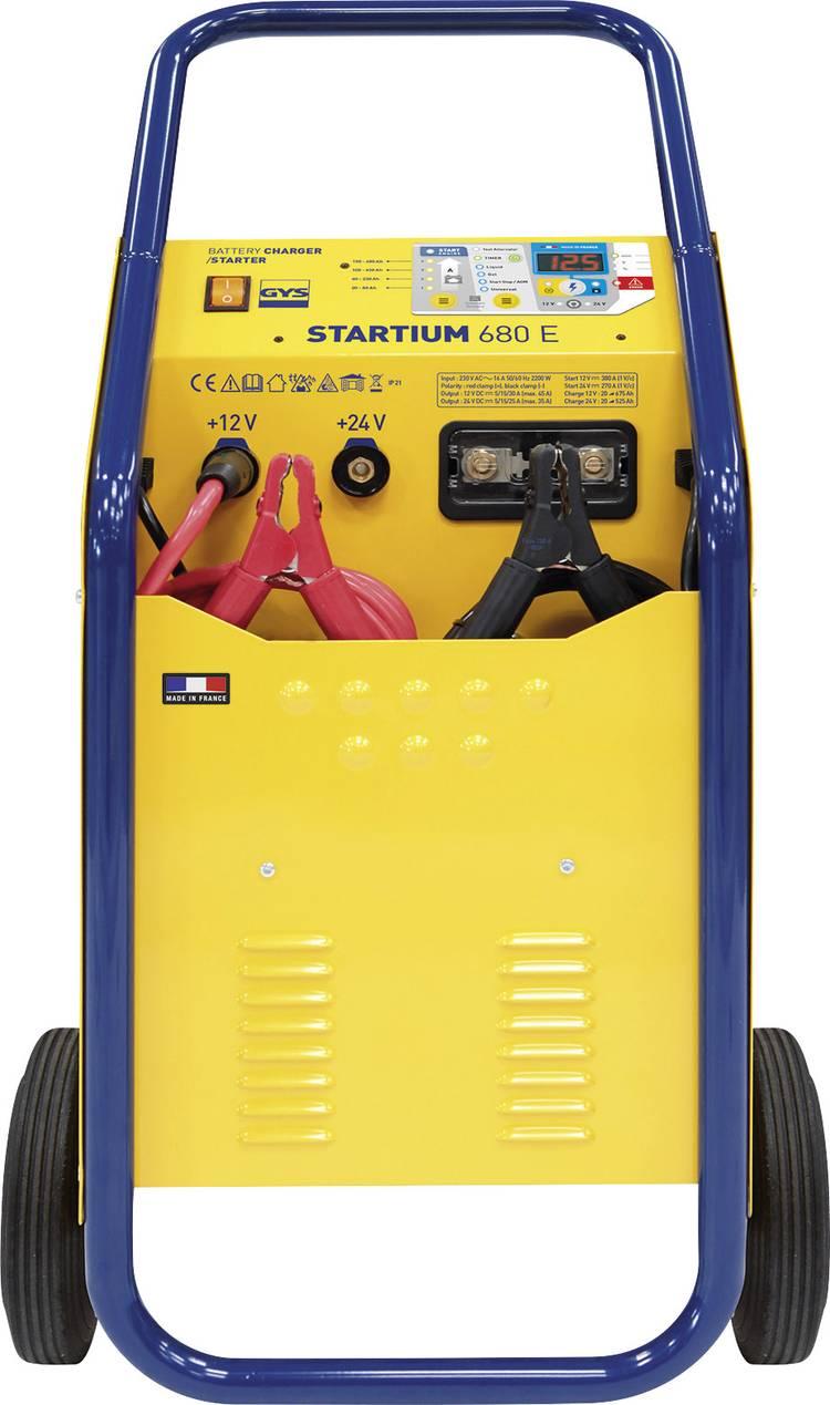 Druppellader. Snelstartsysteem GYS STARTIUM 680E 12 V. 24 V 5 A. 15 A. 30 A. 45 A 5 A. 15 A. 25 A. 35 A