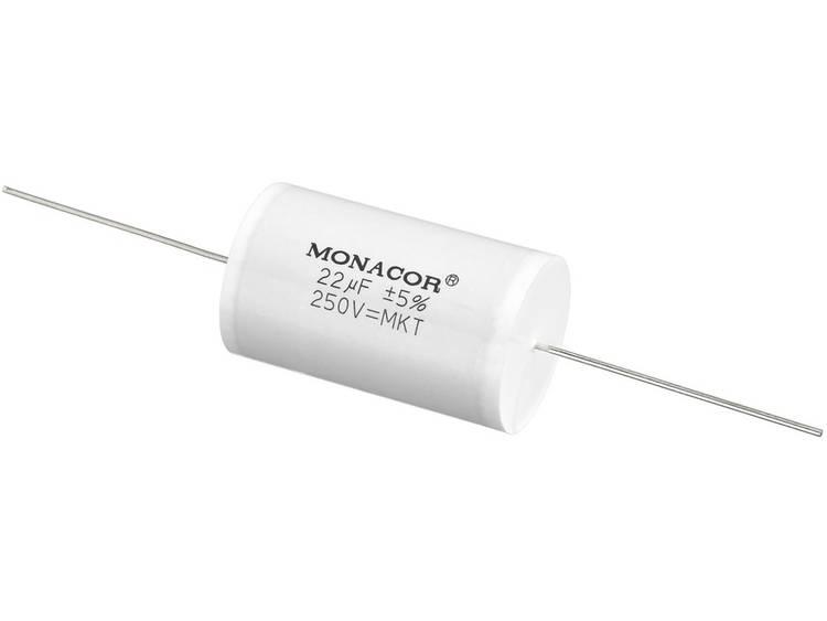 Luidsprekercondensator Monacor MKTA-220 22 µF