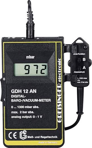 Greisinger GDH 12 AN Drukmeter Luchtdruk, Niet-corrosieve gassen, Niet-ioniserende gassen, Vloeistoffen 0 - 1.3 bar