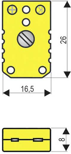 B+B Thermo-Technik THERMOBUCHSE/-KUPPLUNG Thermobus-Koppeling 0.5 mm² Geel 1 stuks