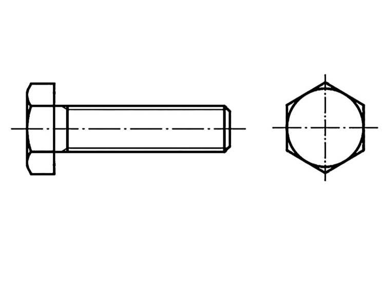 TOOLCRAFT Zeskantbouten M10 20 mm Buitenzeskant (inbus) DIN 961 Staal 200 stuks