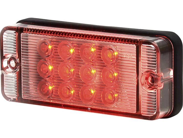 Hoog vermogen LEDs Mistlamp Mistachterlicht achter 12 V, 24 V Rood SecoRüt Helder glas