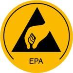 Waarschuwingsbord voor ESD-gebieden