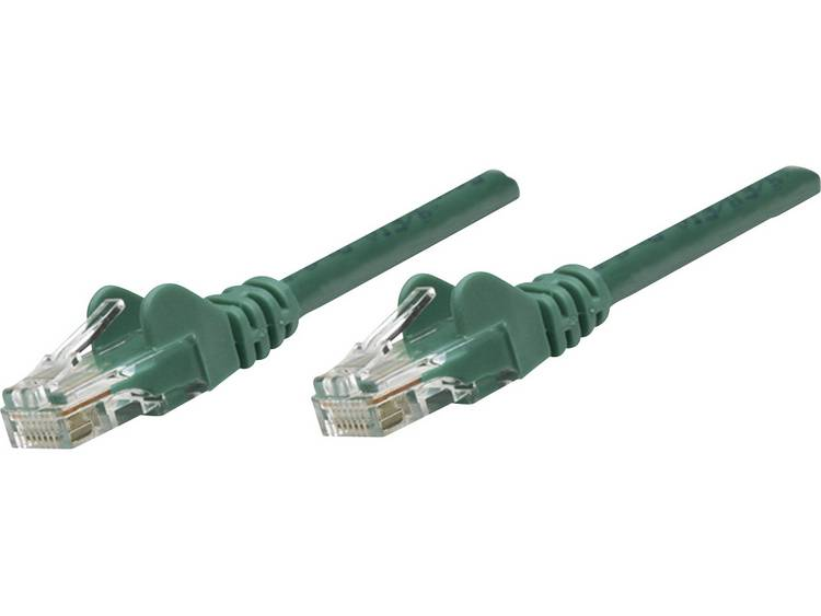 Netwerkkabel RJ45 CAT 6 U/UTP 7.5 m Groen Intellinet