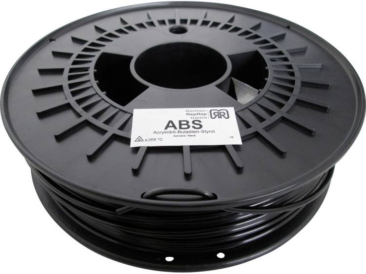 Filament German RepRap 100374 ABS kunststof 3 mm Zwart 750 g