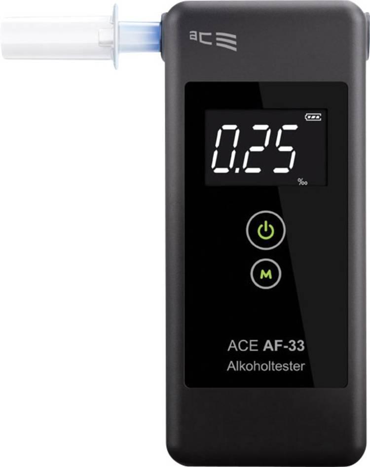 ACE AF-33 Alcoholtester Donkergrijs 0.00 tot 5.00 ‰ Incl. display