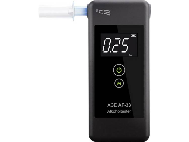 ACE AF 33 Alcoholtester Donkergrijs 0.00 tot 5.00 ‰ Incl. display