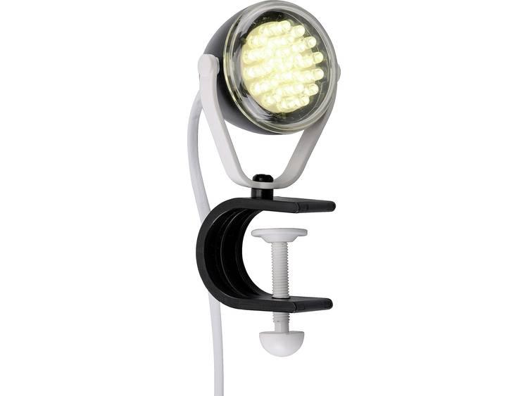 LeuchtenDirekt Podgy LED-klemlamp 2 W Zwart