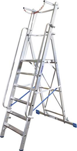 Aluminium Ladder Werkhoogte (max.): 3.4 m Krause Stabilo® Professional 127501 Zilver 20 kg
