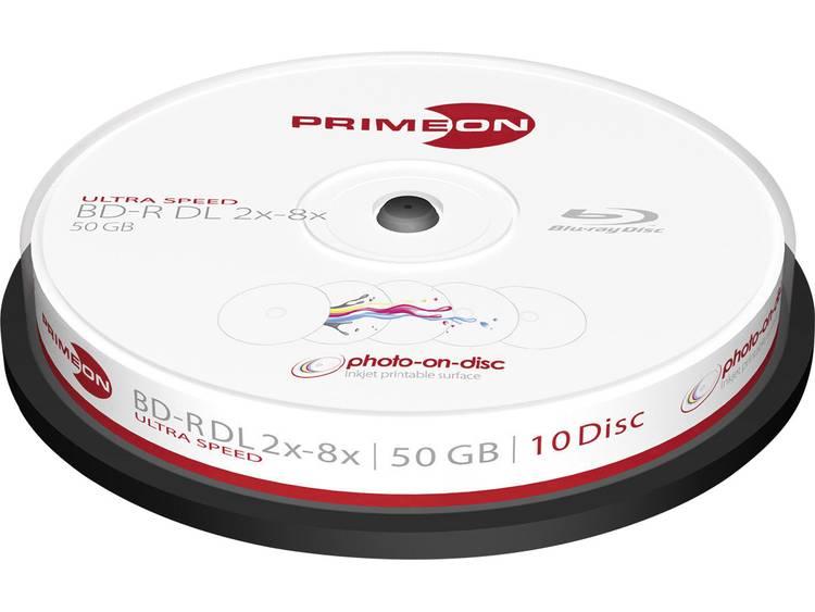 Primeon 2761312 Blu-ray BD-R DL disc 50 GB 10 stuks Spindel Bedrukbaar